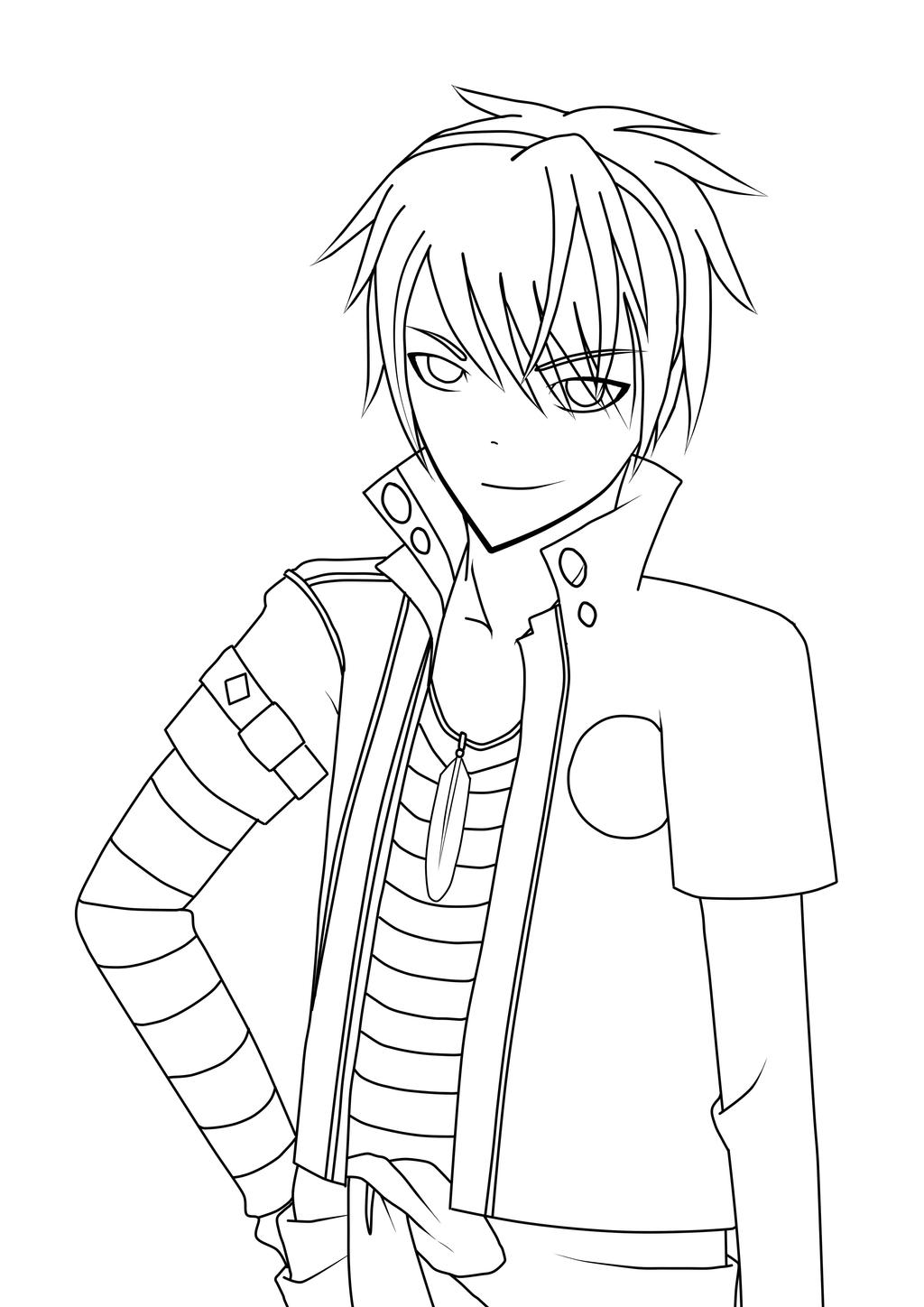 Line Art Anime : Toma amnesia anime line art by allouchsukeshi on deviantart