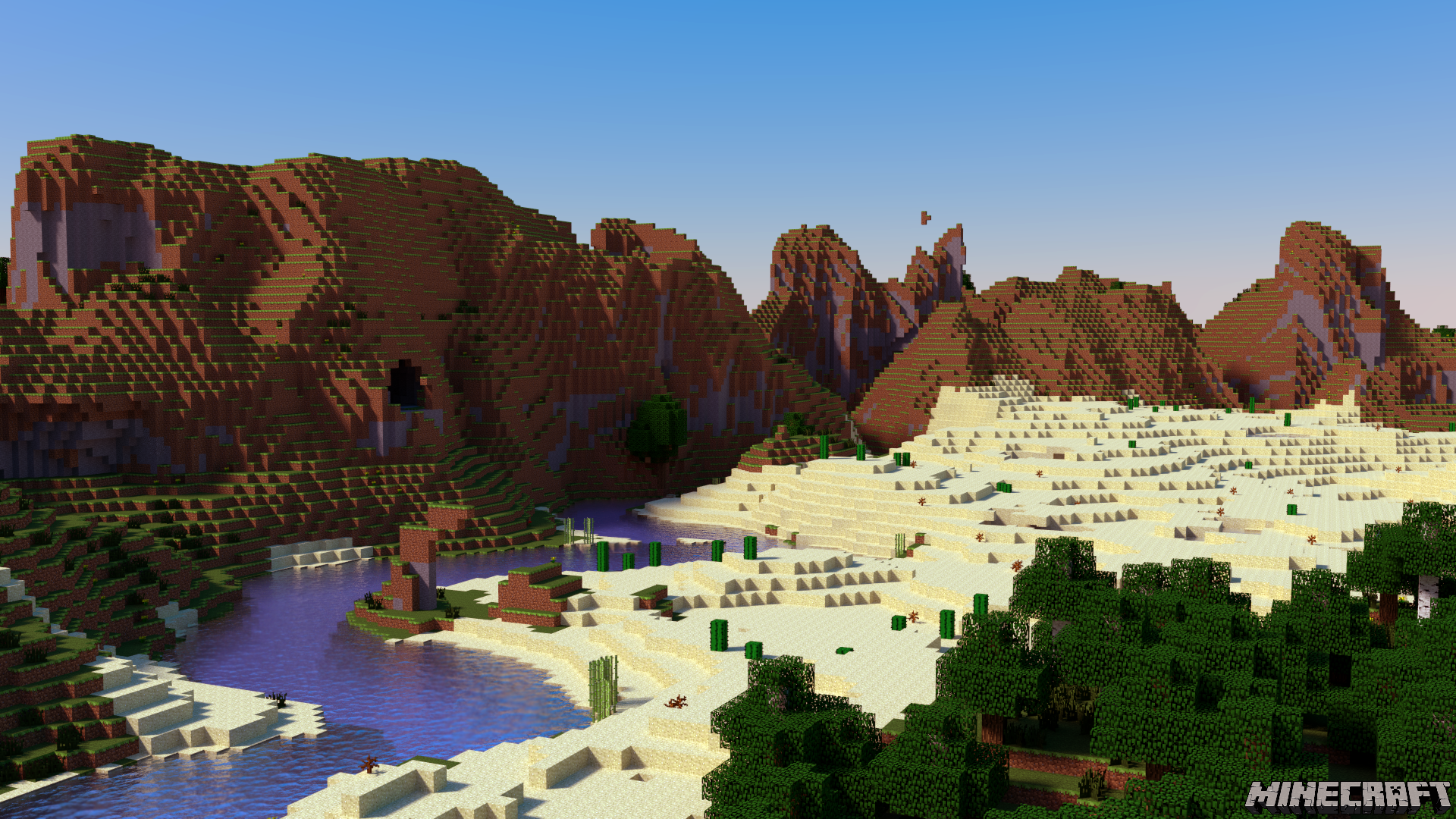 Minecraft Desktop - Flowing River by PerpetualStudios