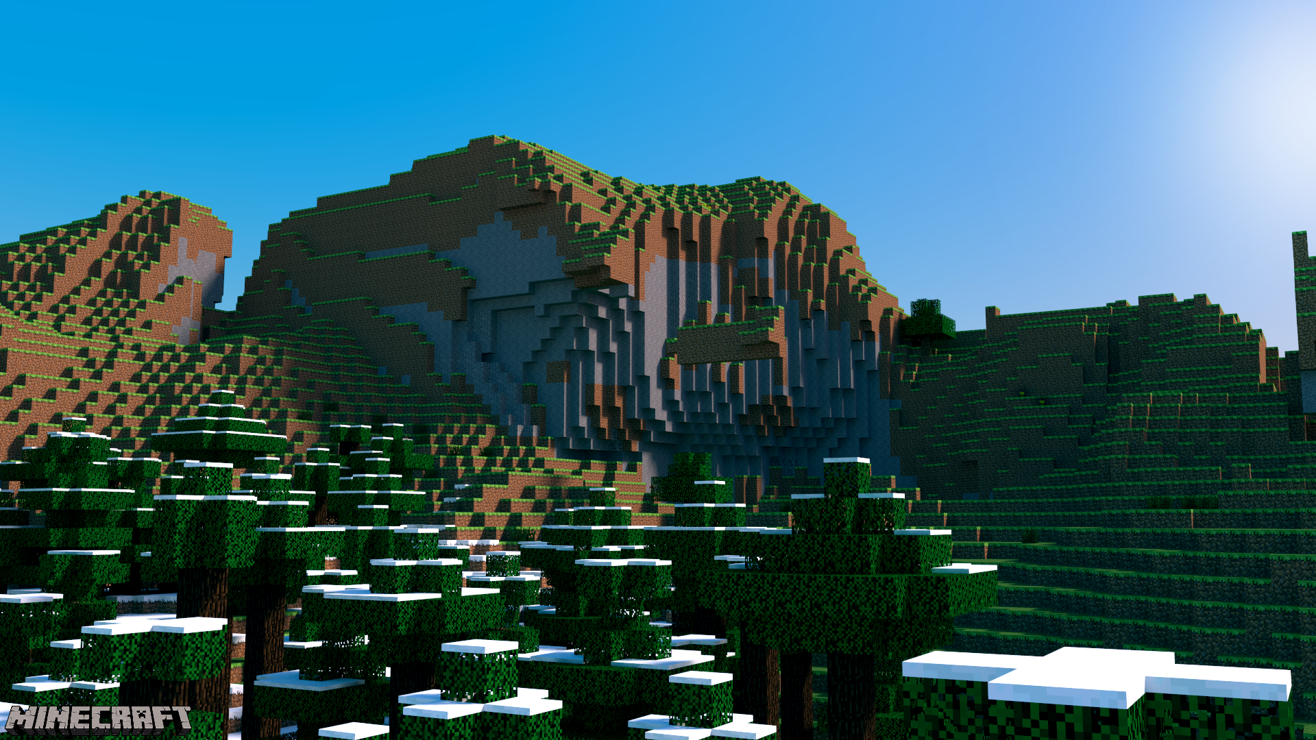 Minecraft Desktop - The Mountains by PerpetualStudios