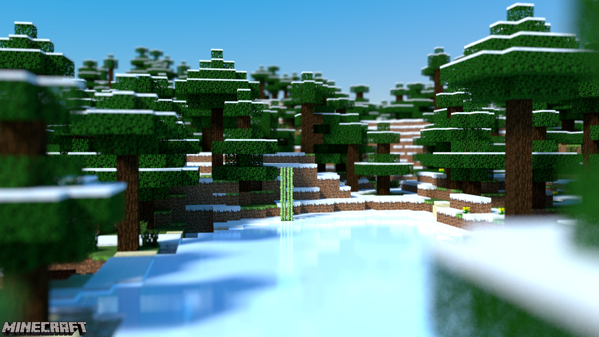 Minecraft Desktop - Frozen Pond by PerpetualStudios