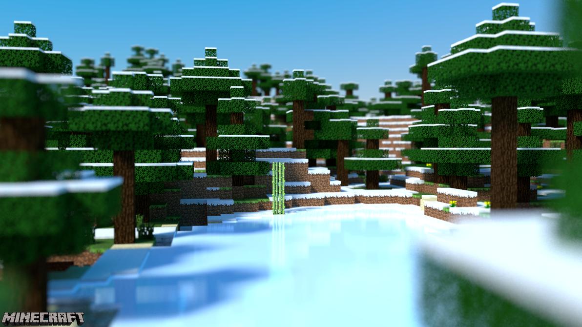 Minecraft Desktop - Frozen Pond by PerpetualStudios