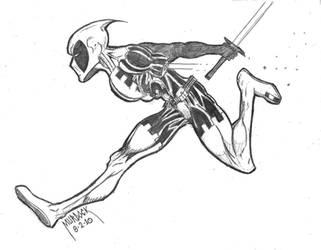 Battle Damaged Deadpool by Demongrinder