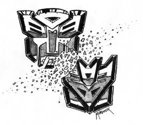 Transformers Tattoo by Demongrinder