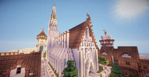 Minecraft Cathedral by aquaarmor