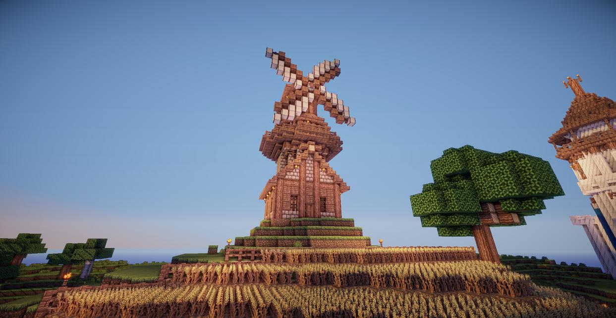 Minecraft Windmill by aquaarmor on DeviantArt