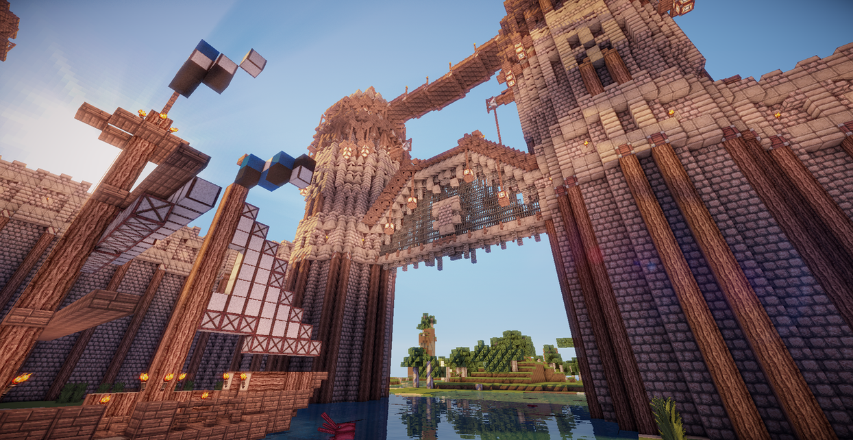 minecraft gate. Brilliant Gate Minecraft Port Gate By Aquaarmor  In T