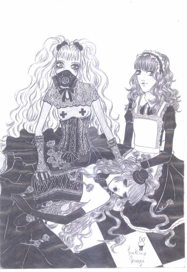 lady Kuroneko,Shinako e Kyuu by coelha-da-lua