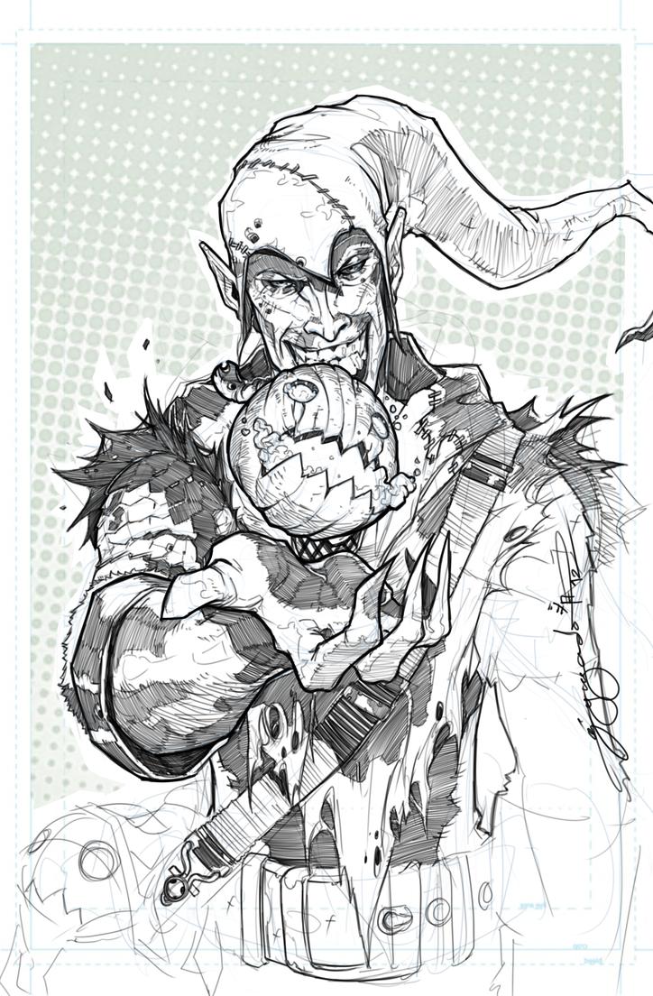 green goblin sketch by karnxjiro on deviantart