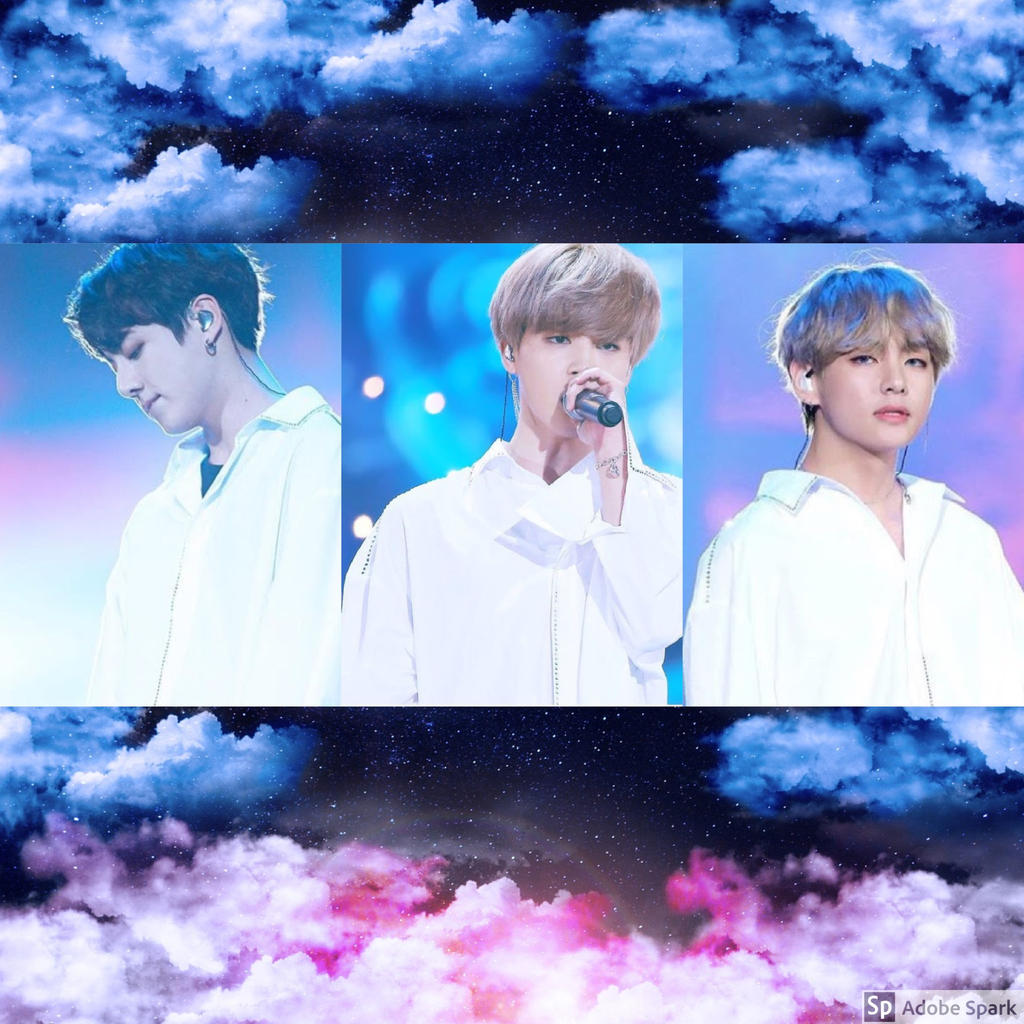 aesthetic vminkook   blue and pink clouds by rubyheart22 dc15zlj