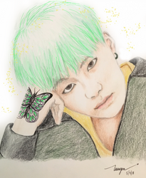 Green Butterfly Suga by rubyheart22