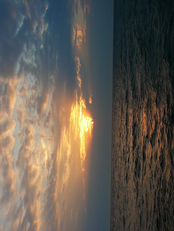 Sunset at Lake Michigan Stock