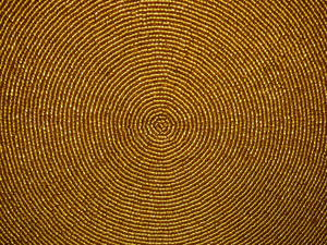 Gold Bead Halo Circle Texture