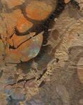 Gold Amber Swirl Paper Texture