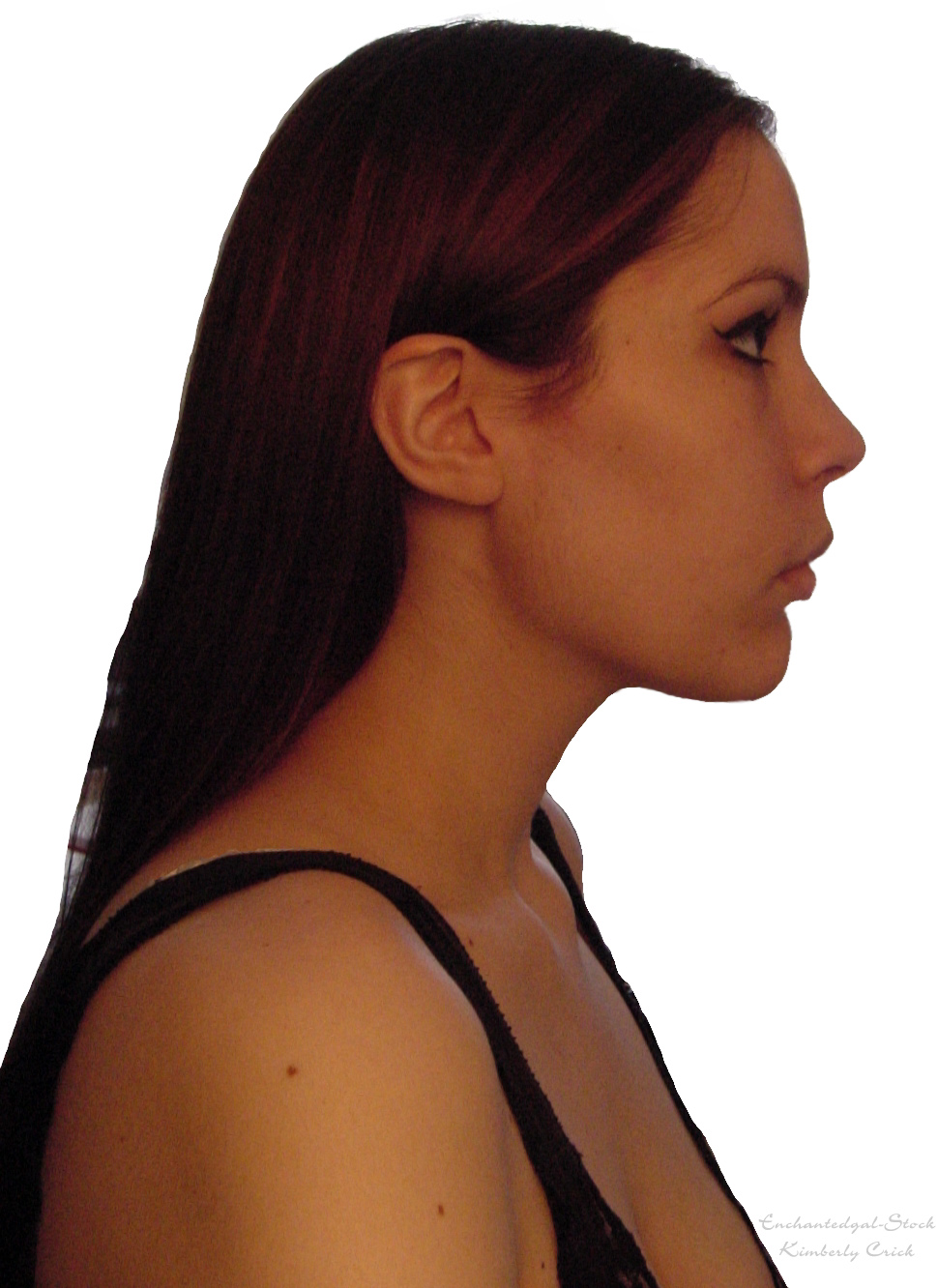 Female Face Profile Stock By Enchantedgal