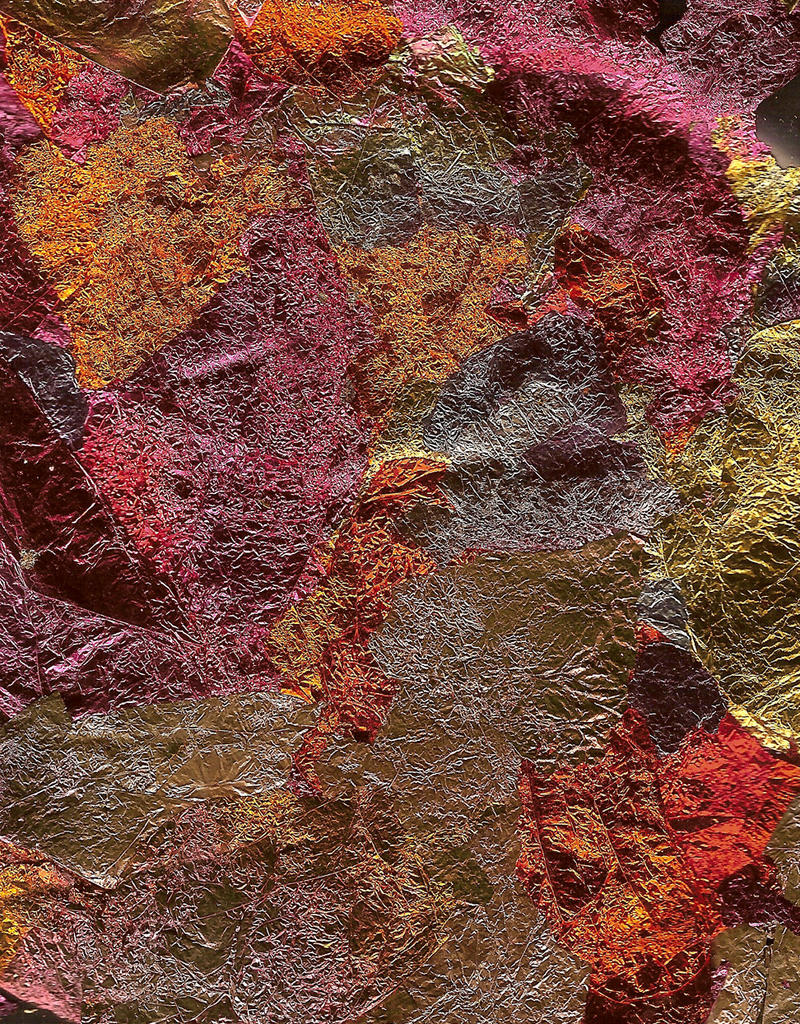 Metal Leaf Copper Texture