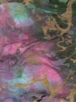 Rainbow Abstract Paint Texture