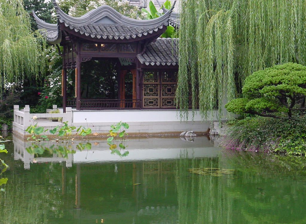 Chinese Garden Water Pond