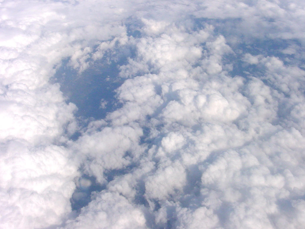 Sky clouds from above by Enchantedgal-Stock