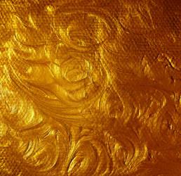 Acrylic Gold Paint Swirl Stock