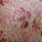 Red Gold Floral Background