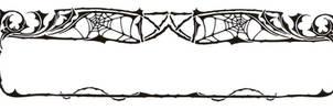 Art Nouveau Spider Web Border by Enchantedgal-Stock