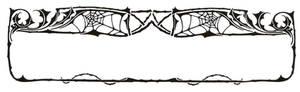 Art Nouveau Spider Web Border