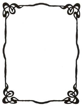 Art Nouveau Ink Picture Frame