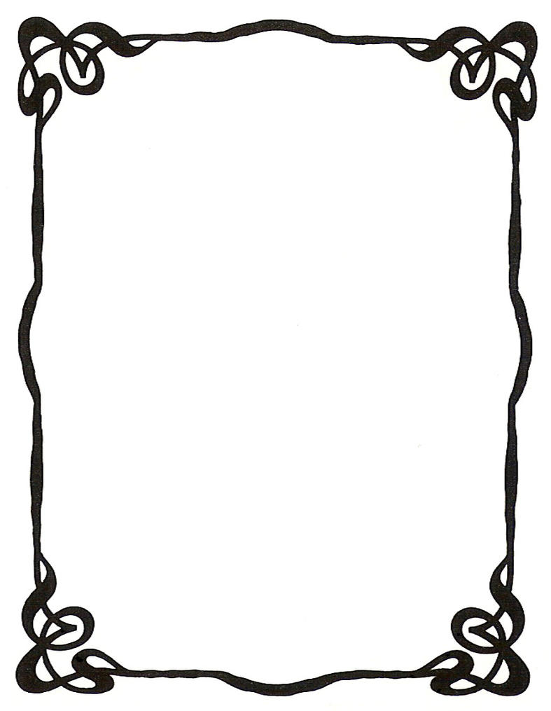 art nouveau ink picture frame by enchantedgal stock on deviantart