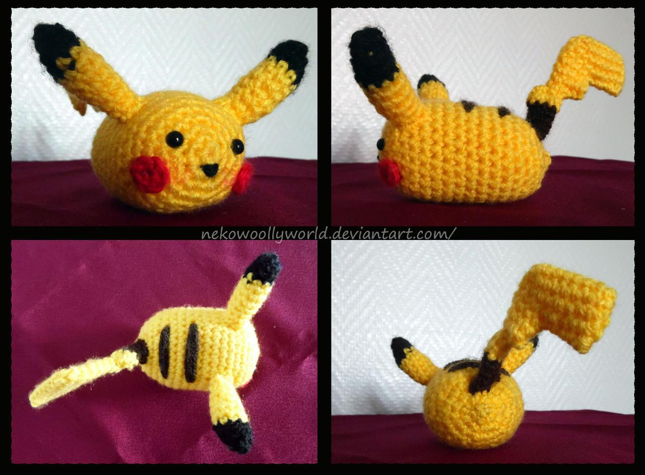 Tsum Tsum Disney Amigurumi : Pikachu Tsum Tsum Amigurumi by NekoWoollyWorld on DeviantArt
