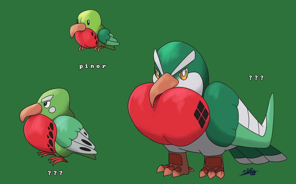 Fakemon - Pinor evolution by VickyPlz22