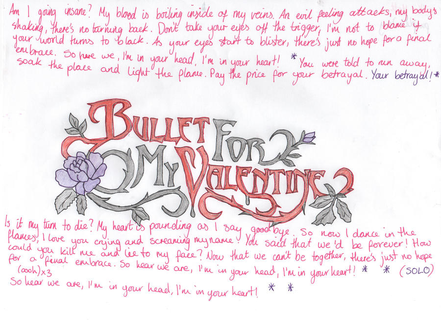 Bullet For My Valentine Your Betrayal Karaoke YouTube. Your Betrayal Lyrics  By Scuzzwalker On DeviantArt