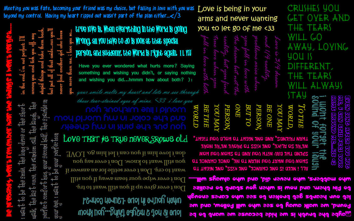 Love Wallpapers With Slogans : Love Sayings wallpaper by xWINGEDxVAMPIREX on DeviantArt