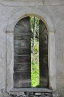 the open door by rainbows-stock