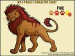 Wild Fangs Sheets_Fire