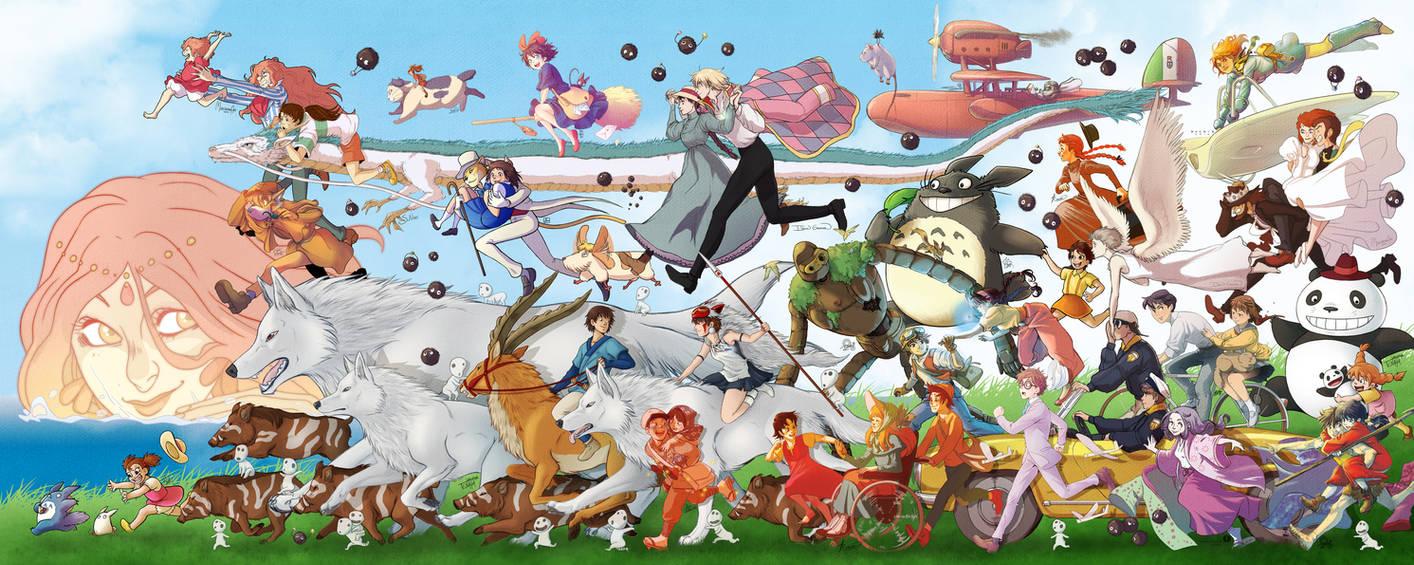 Ghibli parade! by Tenaga