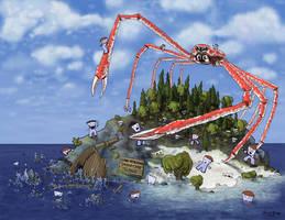 Attacking Spider Crab Island by Vorgus