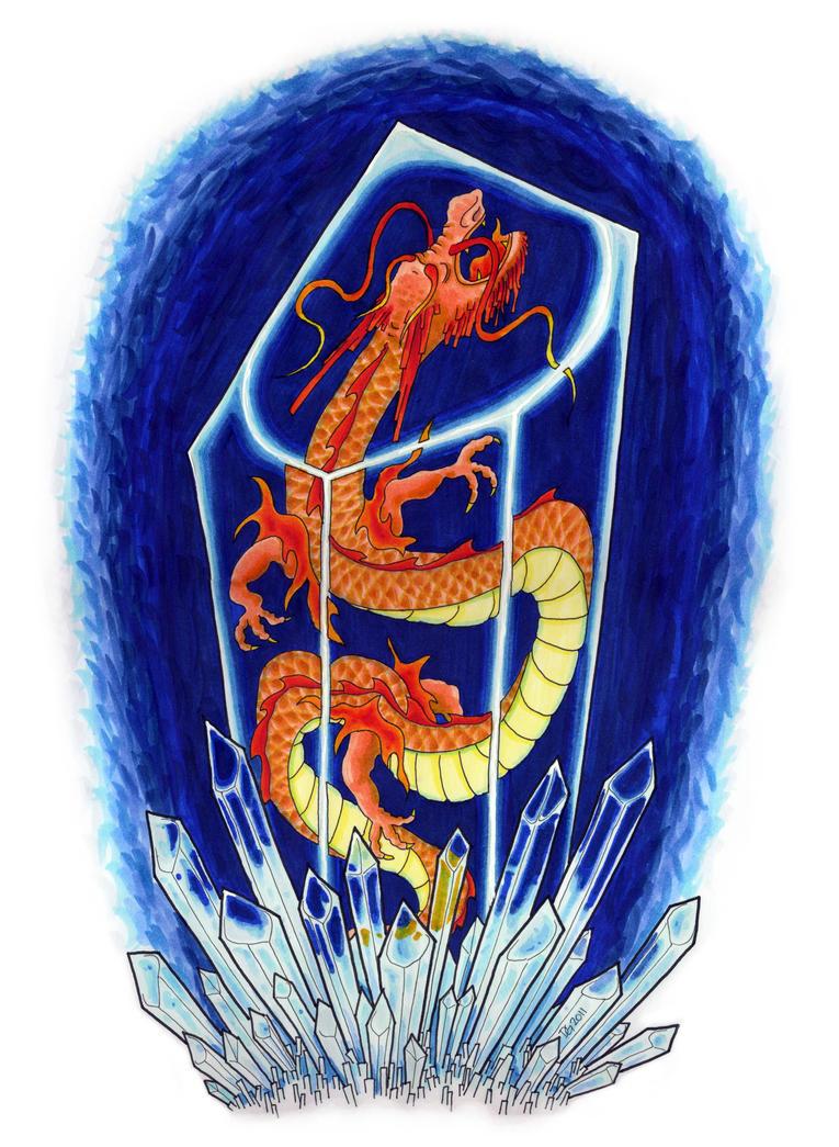 Slumbering Crystal Dragon by Vorgus