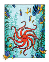 Hypnotic Octopus in Kelp