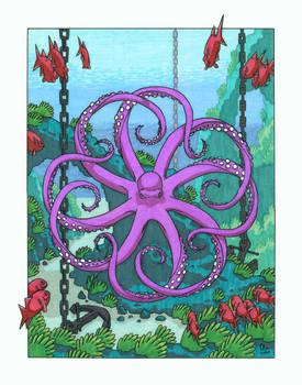 Hypnotic Octopus near Arch
