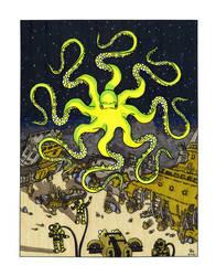 Hypnotic Octopus over Shipwrecks