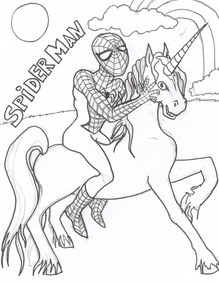 My Spiderman Coloring Page By Usedfreak88
