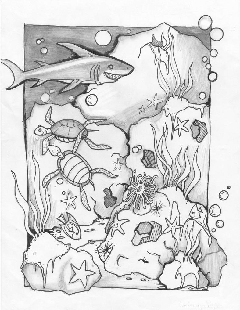 Coloring Sea Page by usedfreak88 on deviantART