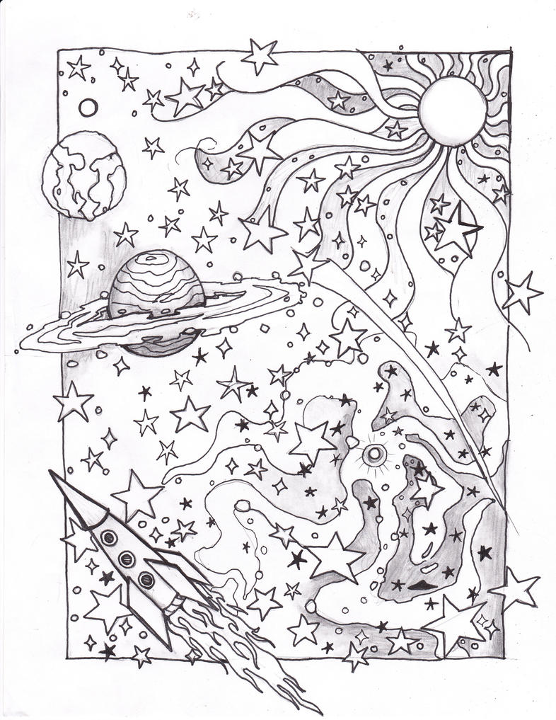space coloring pages for free - photo#33