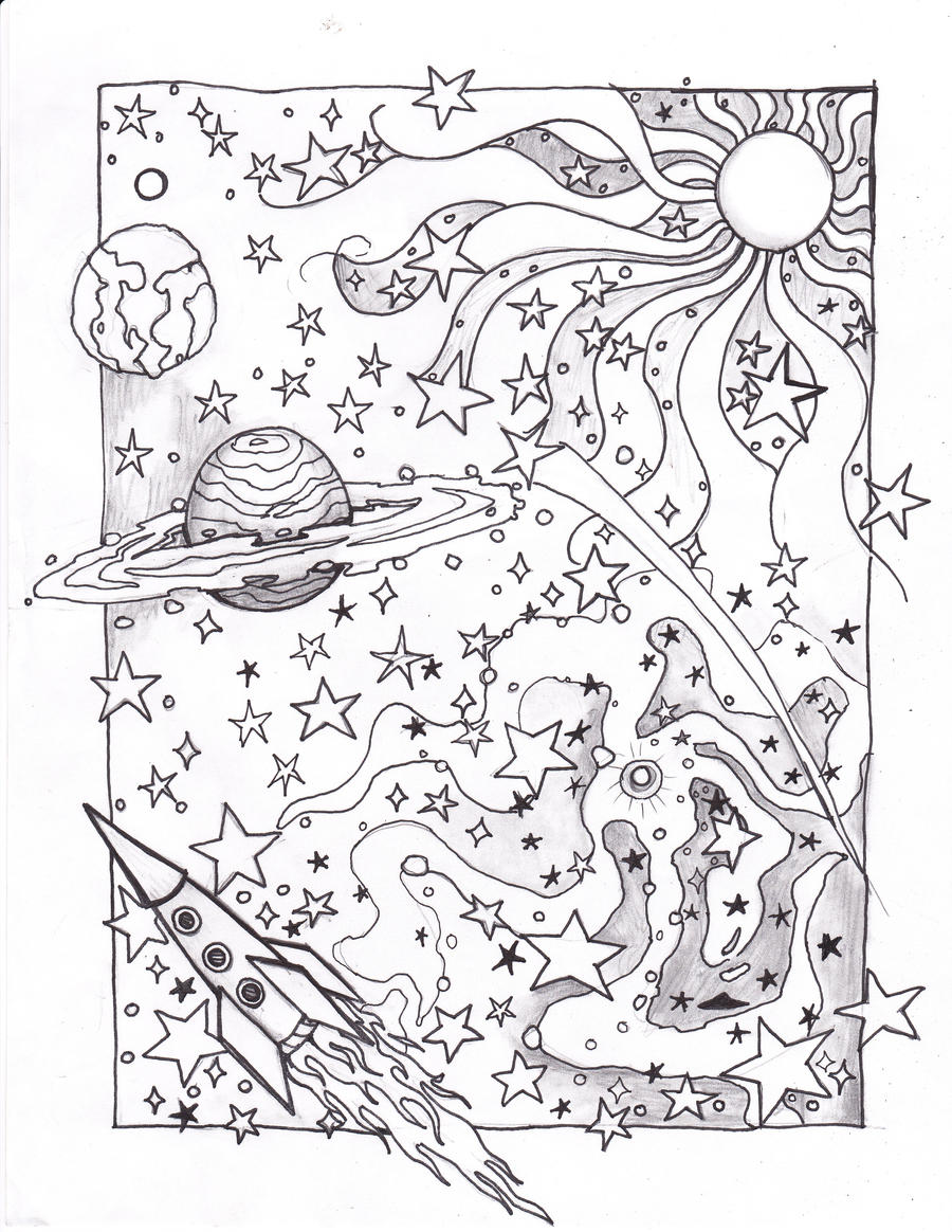 Coloring space page by usedfreak88 on deviantart for Space printable coloring pages