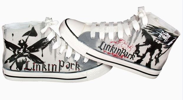 93cb3018ff75 Linkin Park hand painted canvas shoes by elleflynn on DeviantArt