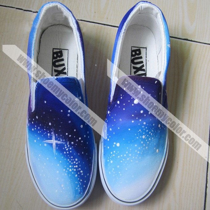 Starry Sky Hand Painted Shoes By Elleflynn On DeviantArt