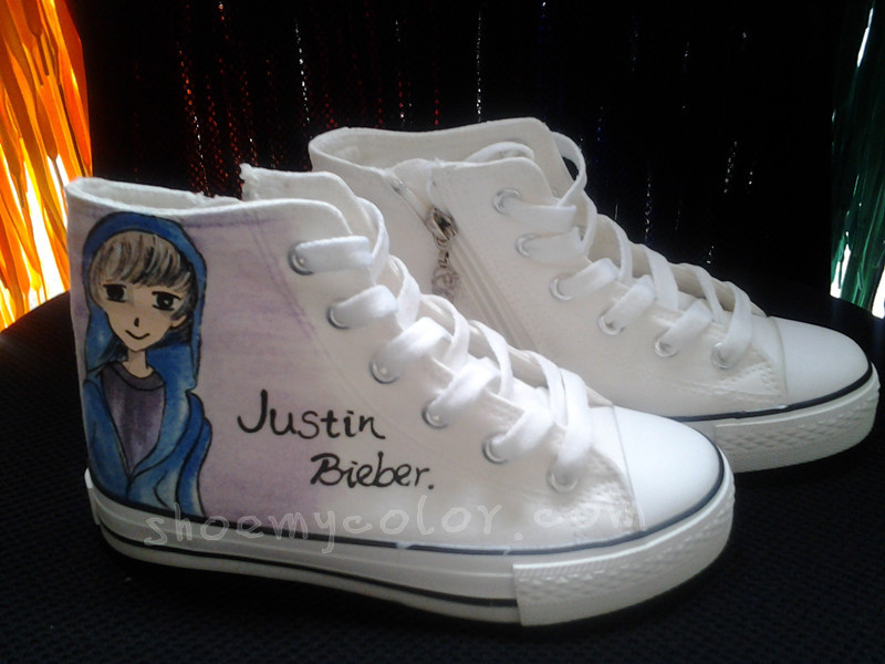 Justin Bieber Kids Shoes By Elleflynn On Deviantart