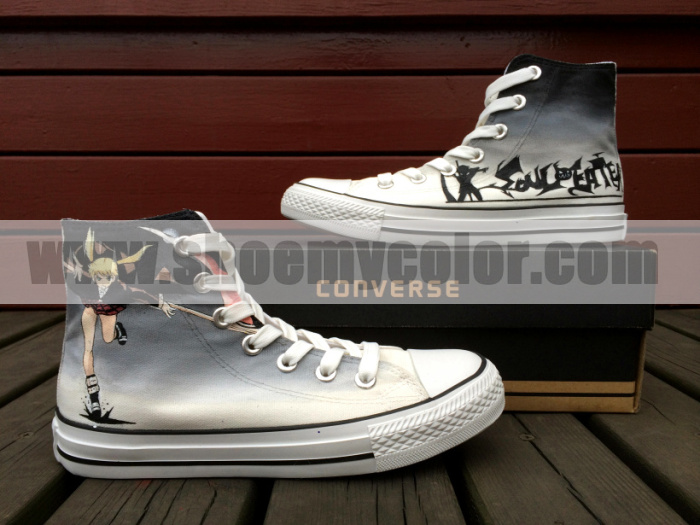 992b1769a44a Soul Eater Converse All Star Hand Painted Shoes by elleflynn on ...