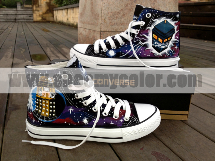 f0294840626c Doctor who tardis converse hand painted shoes by elleflynn on DeviantArt