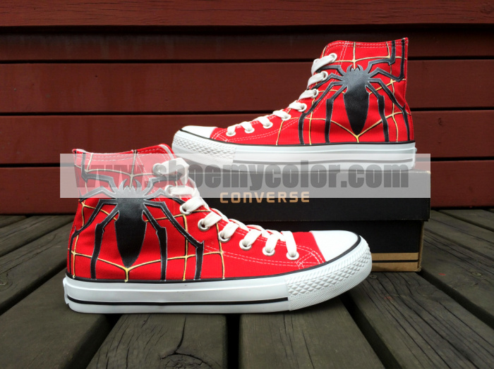 25323f6aa9f3 custom converse spiderman handpainted shoes can do any theme yo